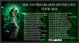 Sacred Blood Divine Lies Tour Poster 2016