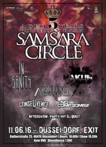 Samsara Circle Birthday Bash Poster