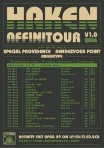 Haken AffiniTour v1.0 Poster 2016
