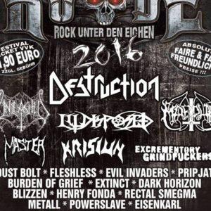 Rock Unter Den Eichen 2016 Flyer