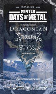 Winter Days Of Metal 2017 - 1st Flyer