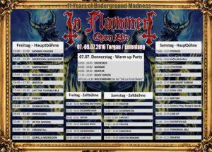 in flammen 2016 running order 19.06