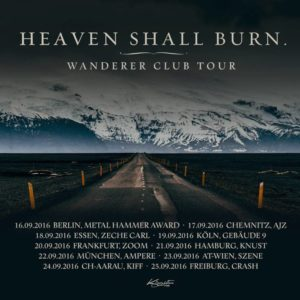 Heaven Shall Burn Tour Flyer 2016