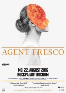 Agent Fresco im Rockpalast Bochum Poster 2016