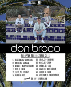Don Broco Tour 2016 Tour Flyer