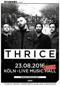 Thrice - Köln 2016 August Flyer