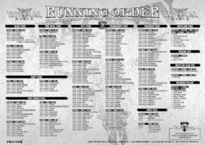 Wacken Open Air 2016 Running Order