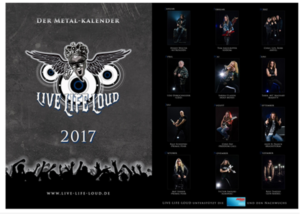 Live Life Loud 2017 Kalender Bild Sep