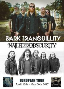 Nailed To Obscurity CD-Release Party des neuen Albums King Delusion am 03.02.2017 im Schlachthof, Aurich Nailed To Obscuity Tour Banner 2017 April mit DT