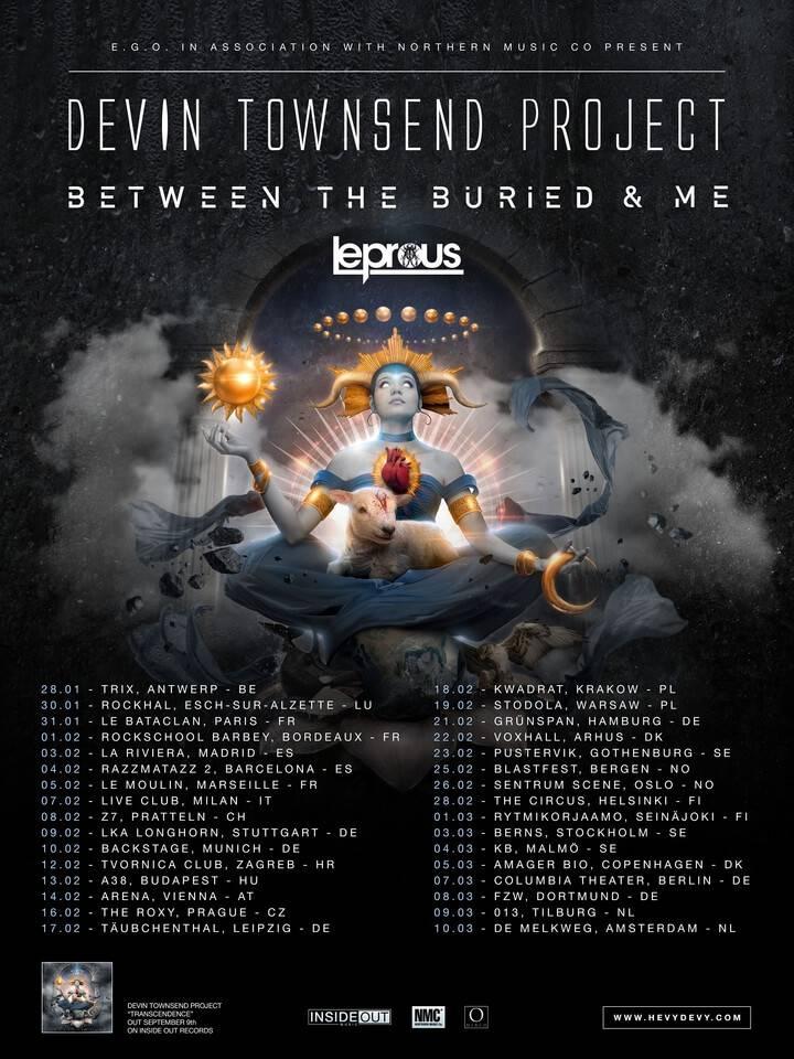 Devin Townsend Transcendence Tour