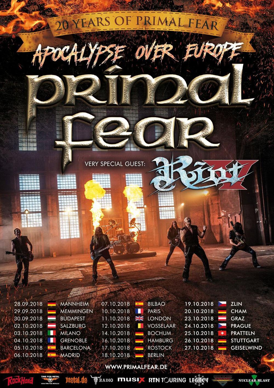 Primal Fear Europa Tour 2018