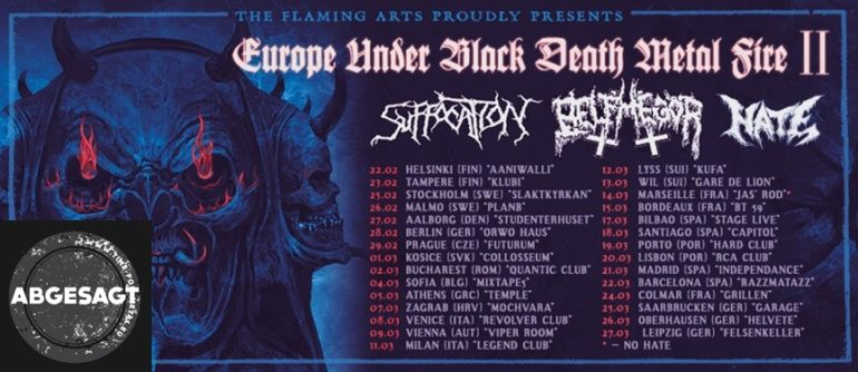 Suffocation Europe Under Black Death Metal Fire II