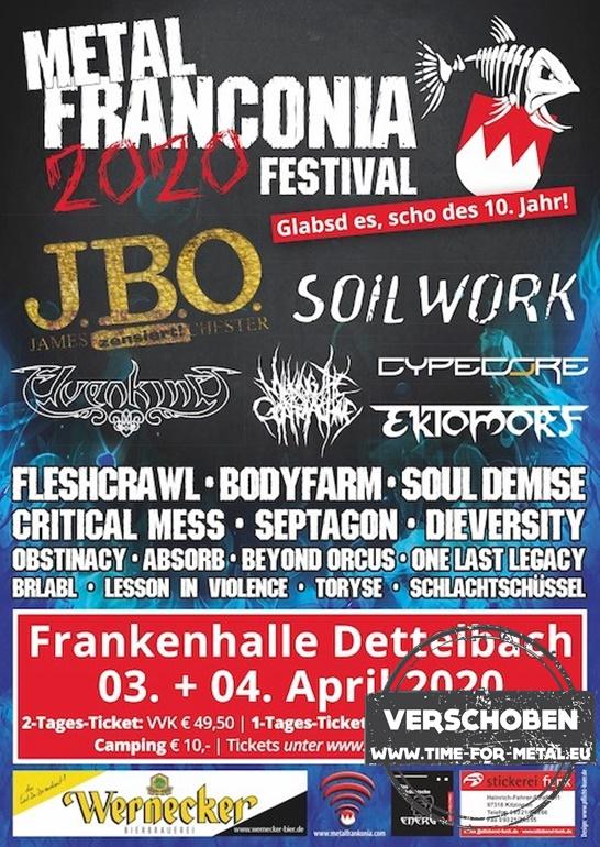 Metal Frankonia Festival 2020 abgesagt