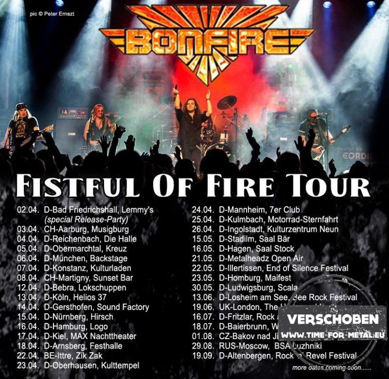 Bonfire Fistful Of Fire Tour 2020
