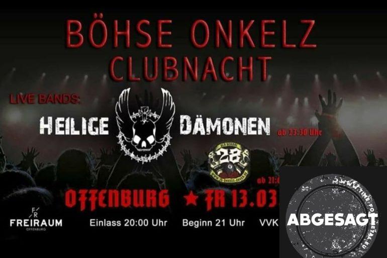 Böhse Onkelz Clubnacht Offenburg 2020