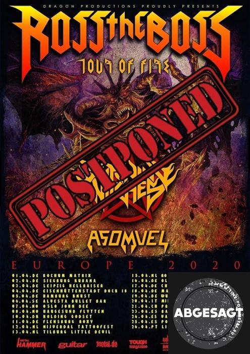 Ross The Boss Tour Of Fire 2020