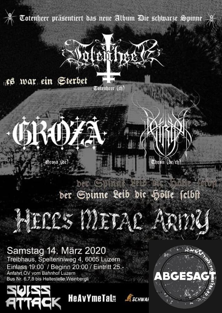 Totenheer, Thron & Groza in Luzern 2020