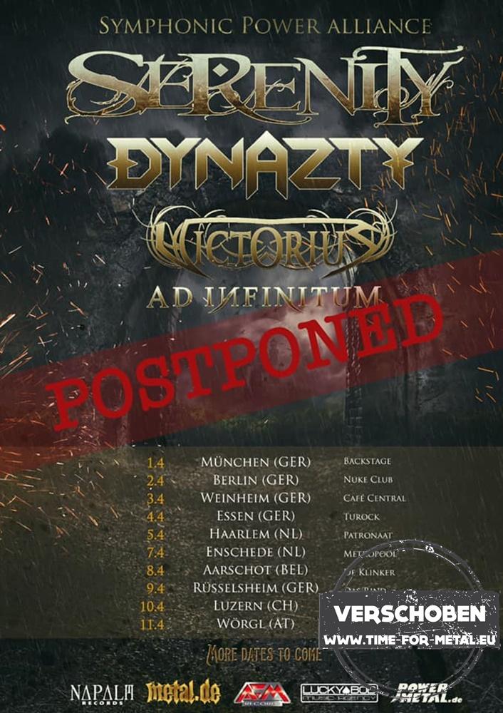 Symphonic Power Alliance Tour 2020 Derenity, Dynazty, Victorius, Ad Infinitum